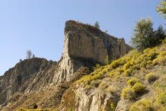 Abandonnez les falaises d'argile Images stock