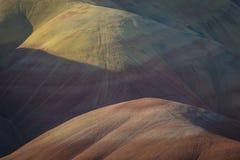 Abandonnez les formes et les couleurs, collines peintes, Orégon Image libre de droits