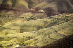 Abandonnez les formes et les couleurs, collines peintes, Orégon Photographie stock