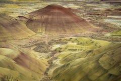 Abandonnez les formes et les couleurs, collines peintes, Orégon Photos stock