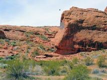 Abandonnez les vues panoramiques des sentiers de randonnée autour de St George Utah autour de Beck Hill, de Chuckwalla, de mur de Photos stock