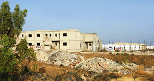 Abandono de la construcción por la crisis, Lanzarote Imagen de archivo libre de regalías