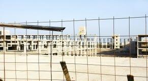 Abandono de la construcción por la crisis, Lanzarote Imagenes de archivo