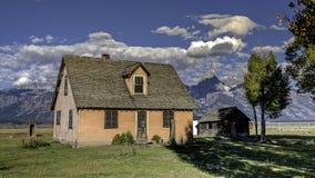 Abandono del cortijo en Wyoming Imagen de archivo