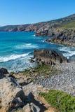 Abano strand i Cascais, Portugal Arkivbilder