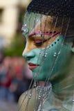 ABANO TERME, ITÁLIA - 8 DE MAIO: o festival Bodypainting Imagens de Stock