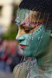 ABANO TERME, ITALY - MAY 8: the Bodypainting Festival Stock Images