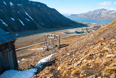 Abanodoned coal mine station in Longyearbyen, Svalbard Stock Photography