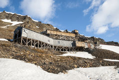 Abanodoned coal mine station in Longyearbyen, Svalbard Royalty Free Stock Image