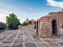 Abanotubani - antyczny okręg Tbilisi, Gruzja, znać dla swój sulfuric skąpań zdjęcia royalty free