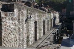 Abanotubani - Bad-Bezirk - ist der alte Bezirk von Tiflis, Georgia, bekannt für seine schwefligen Bäder Lizenzfreie Stockfotos