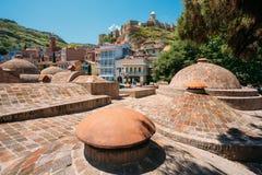 Abanotubani - Bad-Bezirk in Tiflis, Georgia Stockbilder