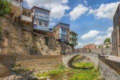 Abanotubani, distrito antiguo de Tbilisi, Georgia, conocida para sus baños sulfúricos Fotos de archivo