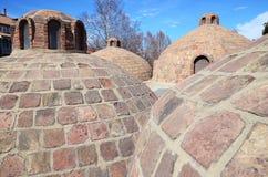 Abanotubani - distrito caliente de los baños del azufre en Tbilisi vieja Fotografía de archivo libre de regalías