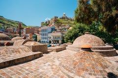 Abanotubani - distrito del baño en Tbilisi, Georgia Imagenes de archivo
