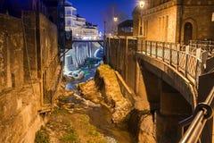 Abanotubani es el distrito antiguo de Tbilisi Foto de archivo libre de regalías