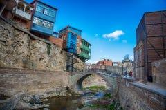 Abanotubani es el distrito antiguo de Tbilisi Fotos de archivo libres de regalías