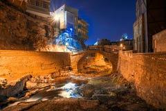 Abanotubani est le secteur antique de Tbilisi Photographie stock libre de droits