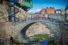 Abanotubani est le secteur antique de Tbilisi Images libres de droits