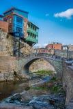 Abanotubani est le secteur antique de Tbilisi Image libre de droits