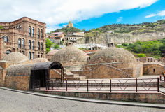 Abanotubani ist der alte Bezirk von Tiflis Stockbild