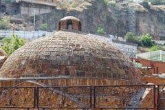 Abanotubani - secteur antique de Tbilisi, la Géorgie, connue pour lui Image libre de droits