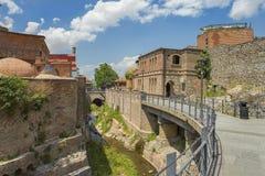 Abanotubani, secteur antique de Tbilisi, la Géorgie, connue pour ses bains sulfuriques Images stock