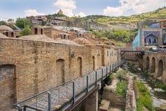 Abanotubani, secteur antique de Tbilisi, la Géorgie, connue pour ses bains sulfuriques Photographie stock