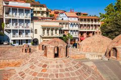 Abanotubani in Tiflis Lizenzfreie Stockfotos