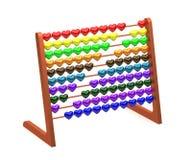 Abaque avec les coeurs colorés - rendu 3d Image stock