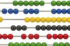 Abaque avec les perles colorées Photo stock