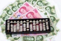 Abaque chinois d'argent Photographie stock libre de droits