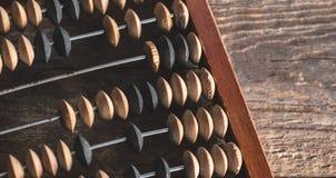 Abaque de vintage sur le fond en bois Images libres de droits