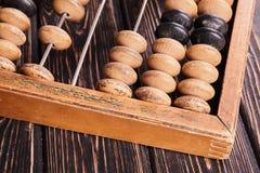 Abaque de vintage sur le fond en bois Photographie stock