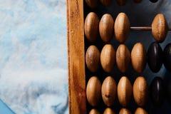 Abaque de vintage sur le fond en bois Photo libre de droits