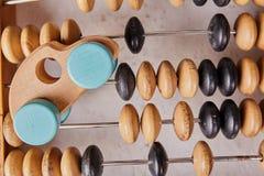 Abaque de vintage sur le fond en bois Image stock