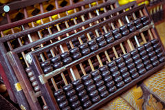 Abaque de vintage sur le fond en bois Image libre de droits