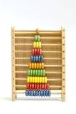 Abaque en bois coloré dessus avec le fond Image stock