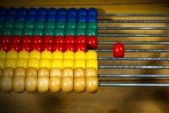 Abaque en bois coloré - foyer sélectif Photos stock