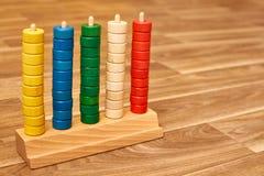 Abaque en bois de couleur photo libre de droits
