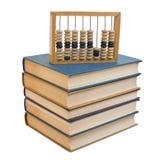 Abaque en bois sur une pile des livres Photo libre de droits