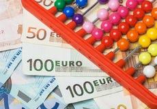 Abaque et argent européen Photo libre de droits