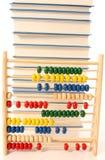 Abaque et livres Photographie stock