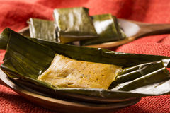 Abara, African food on banana leaf.  Stock Photography