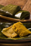 Abara, African food on banana leaf.  Stock Images