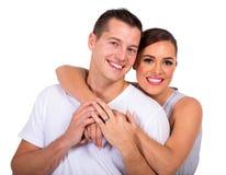 Abarcamiento casado de la pareja Fotografía de archivo