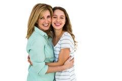 Abarcamiento de la madre y de la hija Fotografía de archivo libre de regalías