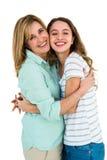Abarcamiento de la madre y de la hija Imagen de archivo