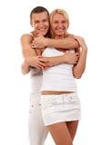 Abarcamiento de pares atractivos Foto de archivo libre de regalías