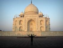 Abarcamiento de Taj Mahal Fotos de archivo libres de regalías